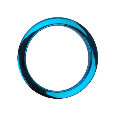 "Bass Drum O's 4"" Blue Chrome Drum O picture"