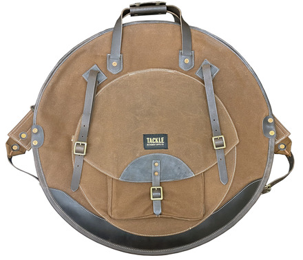 """Tackle Instrument Supply B Brown Canvas Cymbal Bag 24"""" picture"""