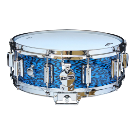 """Rogers Dyna-Sonic 5"""" x 14"""" Classic Snare Drum with Beavertail Lugs - Blue Onyx picture"""