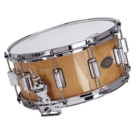 """Rogers Dyna-Sonic 6.5"""" x 14"""" Classic Snare Drum with Beavertail Lugs - WildWood Curly Maple picture"""