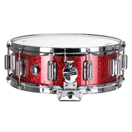 """Rogers Dyna-Sonic 5"""" x 14"""" Classic Snare Drum with Beavertail Lugs - Red Sparkle Lacquer picture"""
