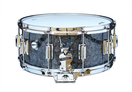 """Rogers Dyna-Sonic 6.5"""" x 14"""" Classic Snare Drum with Beavertail Lugs - Black Diamond Pearl picture"""