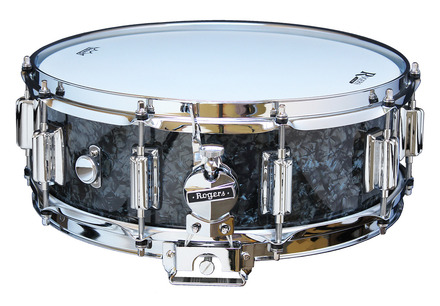 """Rogers Dyna-Sonic 5"""" x 14"""" Classic Snare Drum with Beavertail Lugs - Black Diamond Pearl picture"""