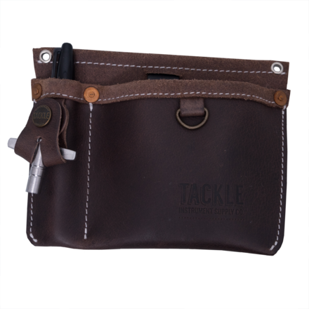 Tackle Leather Clip on Gig Pouch - Brown picture