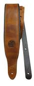 Minotaur Padded Leather Guitar Strap -  Camel