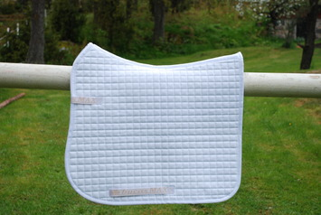MAX DRESSAGE SADDLE PAD/PIPING, White-05 picture