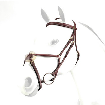 FIGURE 8 BRIDLE, PADDED, NO REINS, Brown, Cob picture