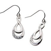 Double Infinity Hook Dangle Earrings
