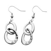 Double Link Hook Dangle Earrings