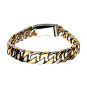 Steel Gold IP Curb Chain Bracelet