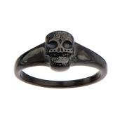 Black IP Sugar Skull Ring