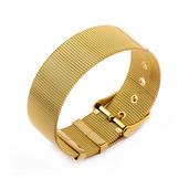 Gold IP Mesh Bracelet Belt-Like Like Opening Technique