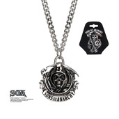 Grim Reaper Stainless Steel Pendant with Chain