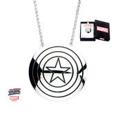 Captain America Shield Logo Pendant with Chain