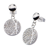 Crystal Circle Dangle Earrings