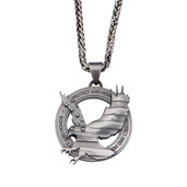 Stainless Steel Gunmetal Protect and Honor Eagle Pendant with Chain