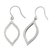 Preciosa Crystal Teardrop Hook Dangle Earrings