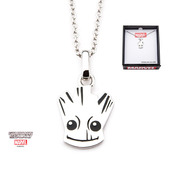 Marvel 925 Sterling Silver Guardian of the Galaxy Groot Pendant with Chain