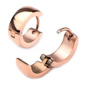 9mm/5mm Inox Jewelry Rose Gold IP Huggies Earrings