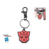 Transformers Base Metal & Black IP Autobot Logo Key Chain