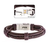 Genuine Brown Leather IOS USB Bracelet