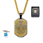 Transformers Base Metal & Gold IP Bumblebee Pendant with Chain