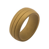 Men's Silicone Safety Bands for Active Lifestyles in Gold