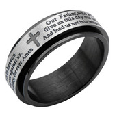 Black IP Spinner Prayer Ring