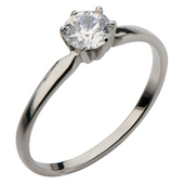 Single CZ Engagment Ring