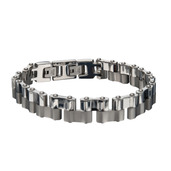 Double Motor Chain Matte and Polish Finished Bracelet