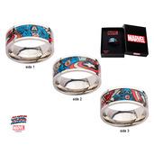 Captain America Printed Comics Ring