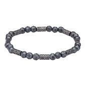 Grey Hematite with Antique Steel Beads Bracelet