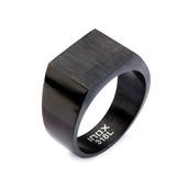 Black IP & Engraveable Polished Ring
