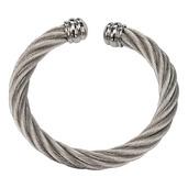 Cable Twist Cuff Bangle Bracelet