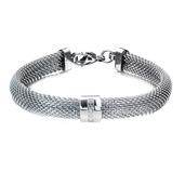 Steel Mesh Bracelet with CZs