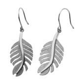 Mesh Leaf Hook Dangle Earrings