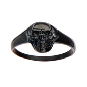 Black IP Skull Ring