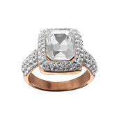 Rose Gold IP with Pave Gem Ring