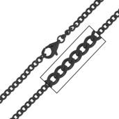 4mm Black IP Flat Curb Chain