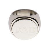 Round Top Engraved DAD Ring