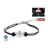Hydra Cut Out in Black Leather Cord Bracelet