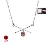 Steel Deadpool Sword Logo Pendant Necklace