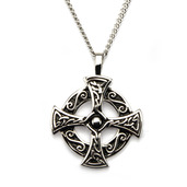 Women's Circular Cross Pendant with Chain