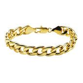 Gold IP Diamond Cut Curb Chain Bracelet