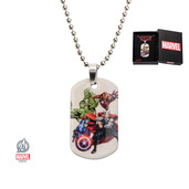 Avengers Kids Dog Tag Pendant with Chain