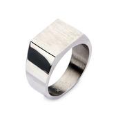 Steel & Engraveable Polished Ring