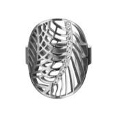 Crystals Leaf Ring