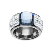 Clear and Blue Gem Ring