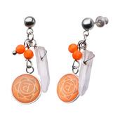 Orange Sacral Chakra Arts Earrings