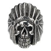 Chief Indian Skull Head Ring